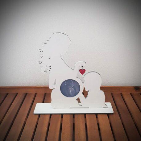okvir za slike trudnica sa srcem