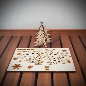 drvena čestitka