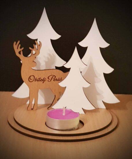 božićni stalak za svijeću