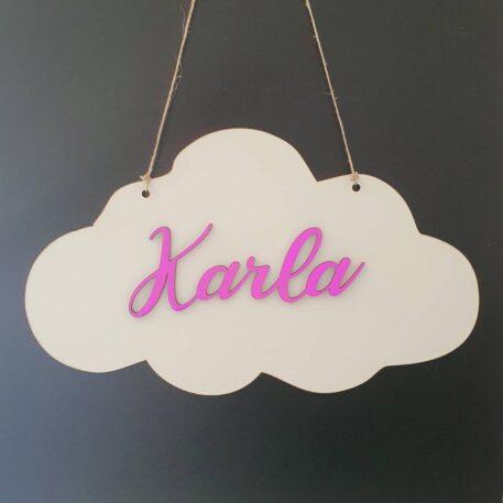 personalizirani znak za dječju sobu